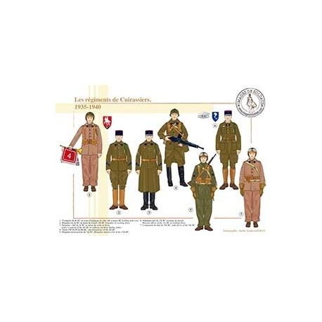 Les régiments de Cuirassiers, 1935-1940