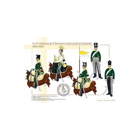 Le 6e régiment de Chasseurs à cheval de la Charente, 1816-1822