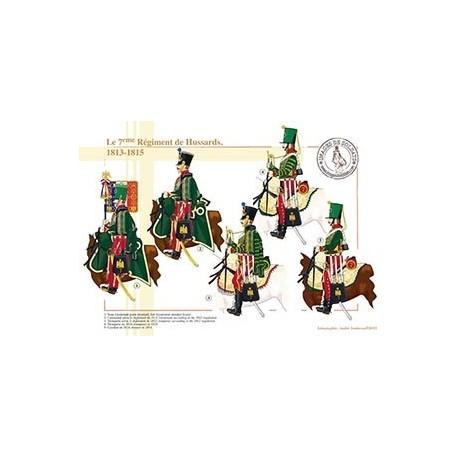 Le 7ème régiment de Hussards, 1813-1815