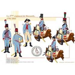 Le 3ème régiment de Hussards, 1796-1803