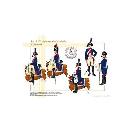 Le 13ème régiment de Cavalerie, 1791-1803