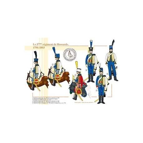 Le 5ème régiment de Hussards, 1796-1803
