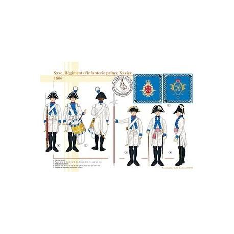 Saxe, Régiment d'infanterie prince Xavier, 1806