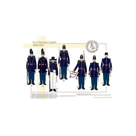 Les Chasseurs à pied, 1840-1854