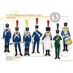 Le 10ème Régiment d'Infanterie Légère, 1813-1815