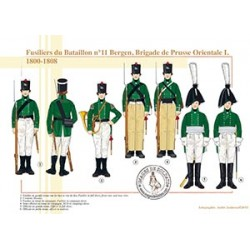 Fusiliers du bataillon n°11 Bergen, Brigade de Prusse Orientale I, 1800