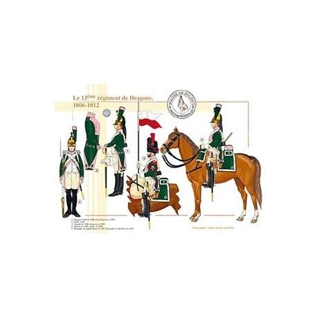 Le 13ème régiment de Dragons, 1806-1812