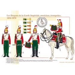 Les Dragons de la Garde Impériale, musiciens, trompettes, 1854-1870