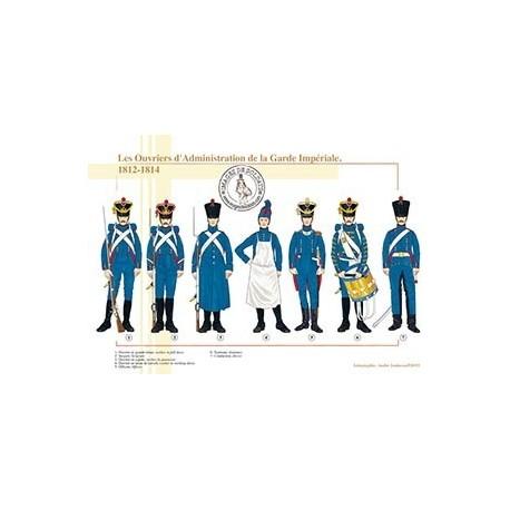 Les Ouvriers d'Administration de la Garde Impériale, 1812-1814