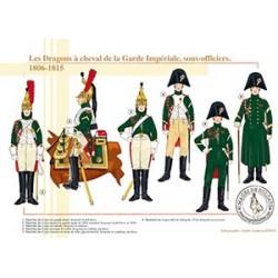 Les Dragons à cheval de la Garde Impériale, sous-officiers, 1806-1815