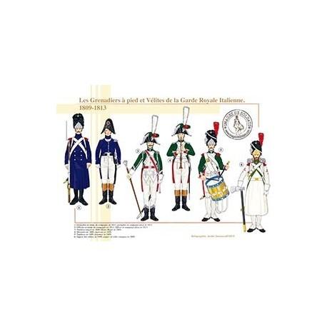 Les Grenadiers à pied et Vélites de la Garde Royale Italienne, 1809-1813