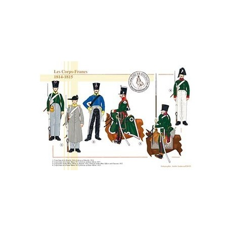 Les Corps-Francs, 1814-1815