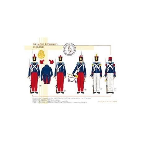 La Légion Etrangère, 1831-1840