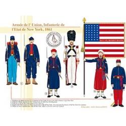Armée de l'Union, Infanterie de l'Etat de New York, 1861