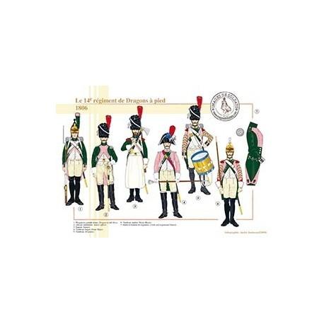 Le 14ème régiment de Dragons à pied, 1806