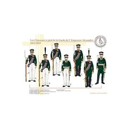 Les Chasseurs à pied de la Garde de l'Empereur Alexandre, 1812-1815