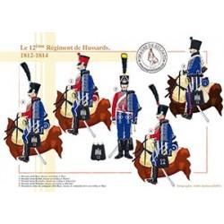 Le 12ème Régiment de Hussards, 1812-1814