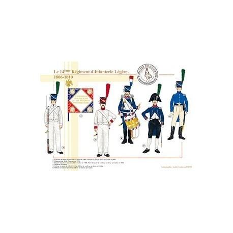Le 14ème Régiment d'Infanterie Légère, 1806-1810
