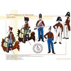 Le 2ème Régiment de Hussards, 1812-1815