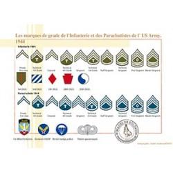Les marques de grade de l'Infanterie et des Parachutistes de l'US Army, 1944