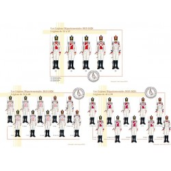 Die französischen Abteilungslegionen, 1815-1820, Legionen von 21 bis 25 und von 31 bis 50