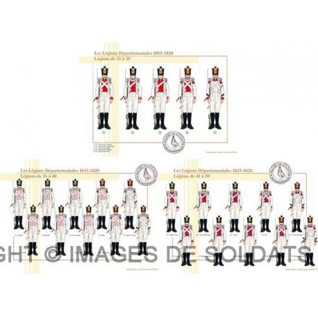 Les Légions Départementales, 1815-1820, Légions de 21 à 50
