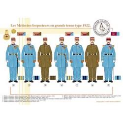 Les Médecins-Inspecteurs en grande tenue type 1922