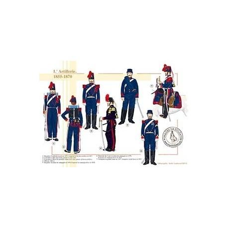 L'Artillerie, 1855-1870