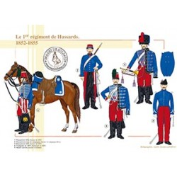 Le 1er régiment de Hussards, 1852-1855