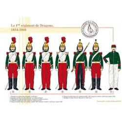 Le 1er régiment de Dragons, 1854-1868