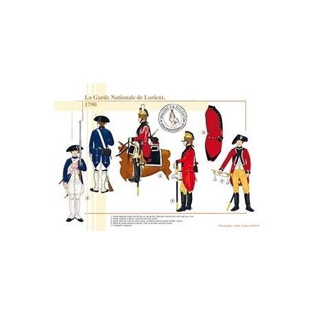 La Garde Nationale de Lorient, 1790