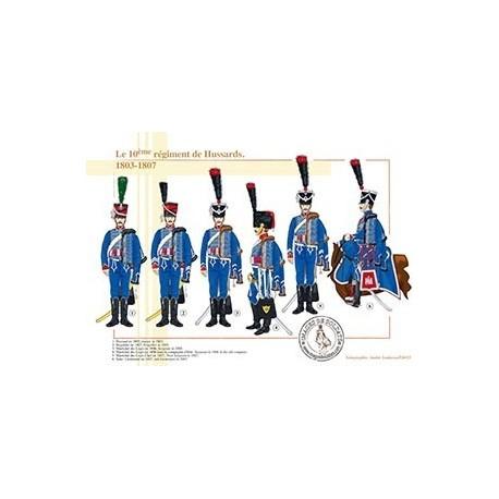 Le 10ème régiment de Hussards, 1803-1807
