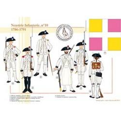 Neustrie Infanterie, n°10, 1786-1791