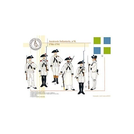 Austrasie Infanterie n°8, 1786-1791