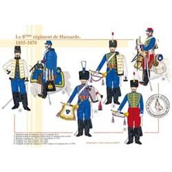 Le 8ème régiment de Hussards, 1855-1870