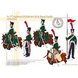 Le 1er régiment d'Eclaireurs de la Jeune Garde, 1813-1814