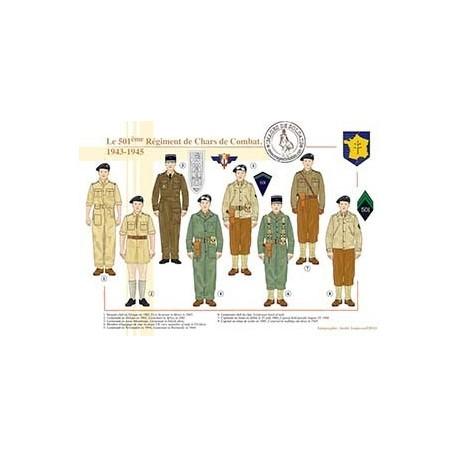 Le 501ème Régiment de Chars de Combat, 1943-1945