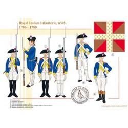 Royal Italien Infanterie n°65, 1786-1788