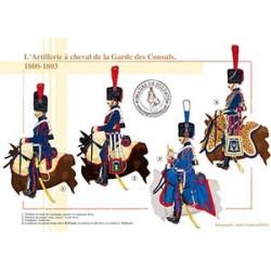 L'Artillerie à cheval de la Garde des Consuls, 1800-1803