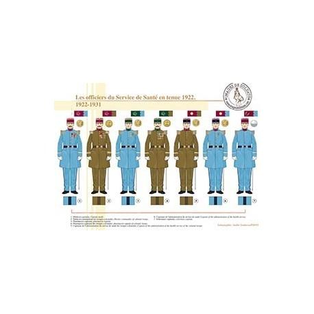 Les officiers du Service de Santé en tenue 1922, 1922-1931