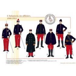 L'Infanterie, les officiers, 1900-1914
