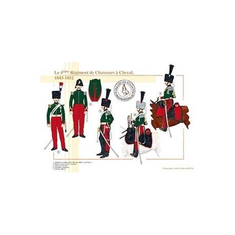 Le 4ème Régiment de Chasseurs à Cheval, 1843-1852