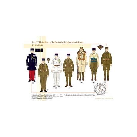 Le 1er Bataillon d'Infanterie Légère d'Afrique, 1931-1940