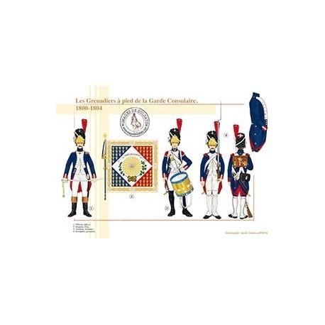 Les Grenadiers à pied de la Garde Consulaire, 1800-1804