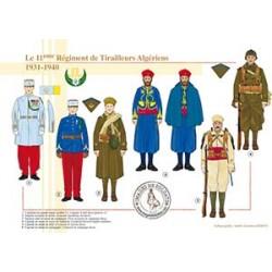Le 11ème Régiment de Tirailleurs Algériens, 1931-1940