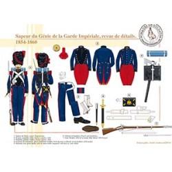 Sapeur du Génie de la Garde Impériale, revue de détails, 1854-1860