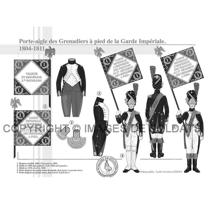 Porte Aigle Des Grenadiers à Pied De La Garde Impériale 1804 1811