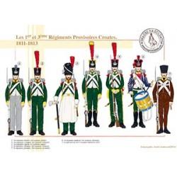 Les 1er et 3ème Régiments Provisoires Croates, 1811-1813