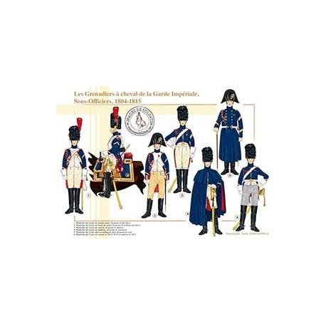 Les Grenadiers à cheval de la Garde Impériale, Sous-Officiers, 1804-1815