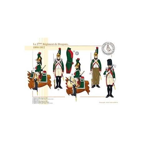 Le 2ème Régiment de Dragons, 1804-1812